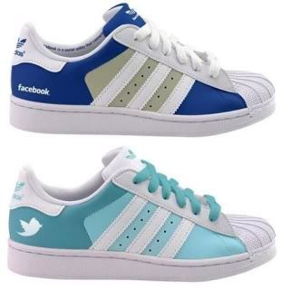 Facebook and Twitter adidas sneakers!