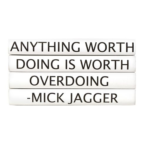Four Volume Mick Jagger Quote Set of Decorative Books