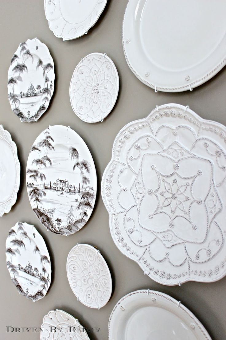Hanging Plates to Create a Decorative Plate Wall - Driven by Decor  sc 1 st  Pinterest & 132 best plate walls images on Pinterest | Decorative plates Dish ...