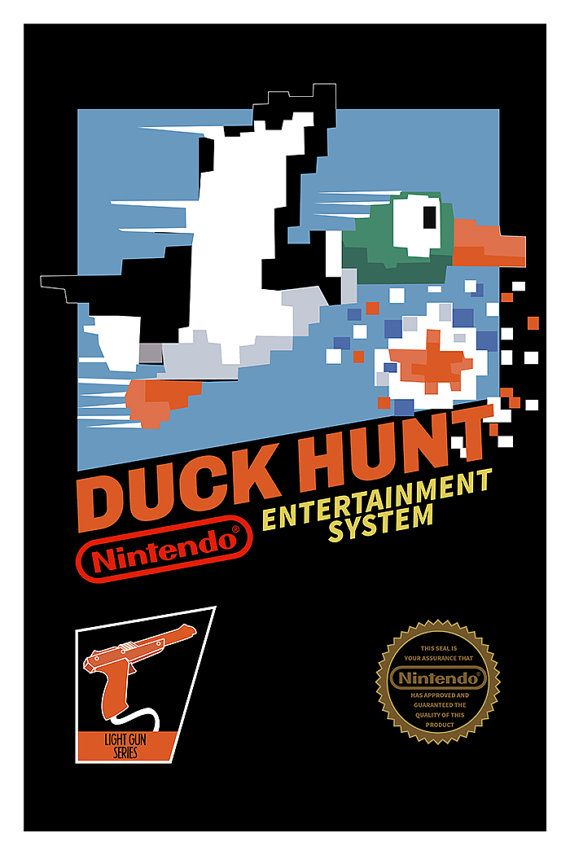 Duck Hunt Poster Nintendo 8bits NES Video Game by GeekyPrints