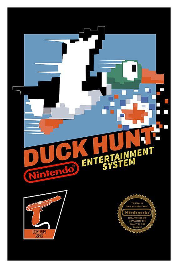 Duck Hunt Poster Nintendo 8bits NES Video Game by GeekyPrints