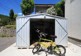 【ユーロ物置】BICYCLE CUBE(バイシクルキューブ) - 1530SQ1。【BICYCLE CUBE バイシクルキューブ 1530SQ1】サイクルハウス 自転車置き場 バイクガレージ 物置 物置き ものおき おしゃれ 屋外 収納庫 自転車 バイク【ハンドブック付】