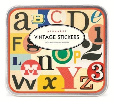 Cavallini Decorative Stickers - Vintage ABC + 123, Stationery
