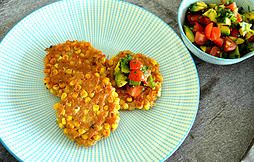 The Little Melbourne Kitchen | Corn Fritters with Avocado Salsa