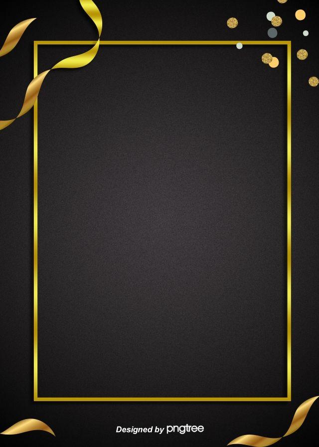 Simple Atmospheric Black Golden Frame Commercial Advertising E Commerce Background Graphic Design Background Templates Background Images Black Background Wallpaper