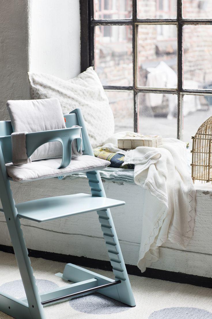 Stokke high chair blue - Tripp Trapp Della Stokke Coussin Confort Cru