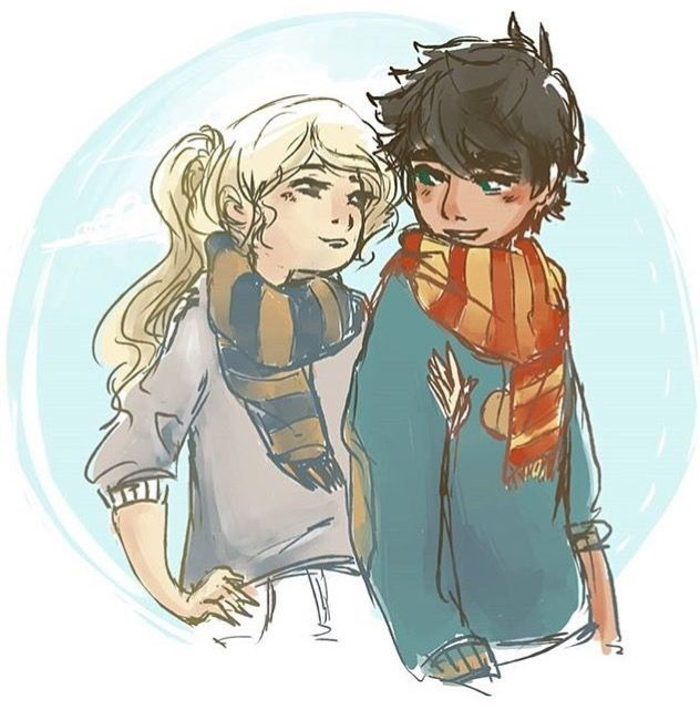 ravenclaw annabeth and gryffindor percy... except personally I think Percy is a Hufflepuff, with the whole loyalty being his fatal flaw and stuff....