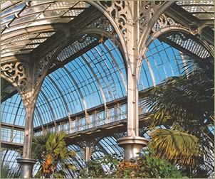 The Royal Botanic Garden in Edinburgh, Scotland has over 25 glasshouses (built in the 1800s, 1960s, and the 1970s) that are used not only for education and edification but also for research, propagation and quarantine. These conservatories (ten of which are open to the public) allow visitors to experience many different climate zones in one visit. The Royal Botanic Gardens are located just one mile from the center of Edinburgh and cover over 70 acres of land.