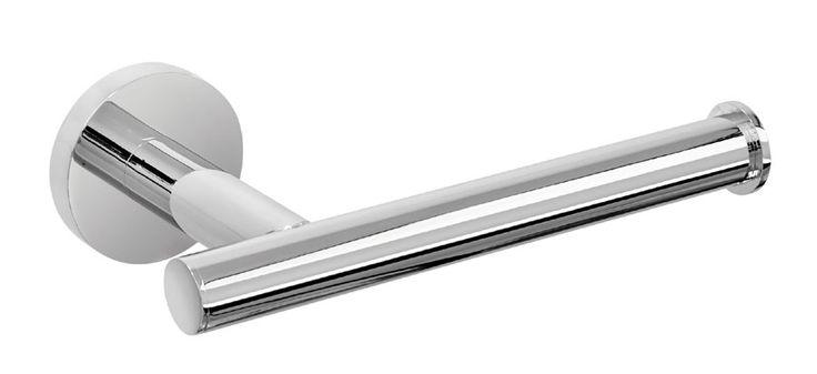Der formschöne Rollenhalter aus der Serie EOS besticht durch seine schlichte Eleganz. Der harmonisch runde Papierrollenhalter aus hochwertigen verchromten Messing ist ein echter Blickfang im WC. Die Befestigung erfolgt entweder mit Schrauben oder mit einem speziellen 2-Komponenten-Kleber.