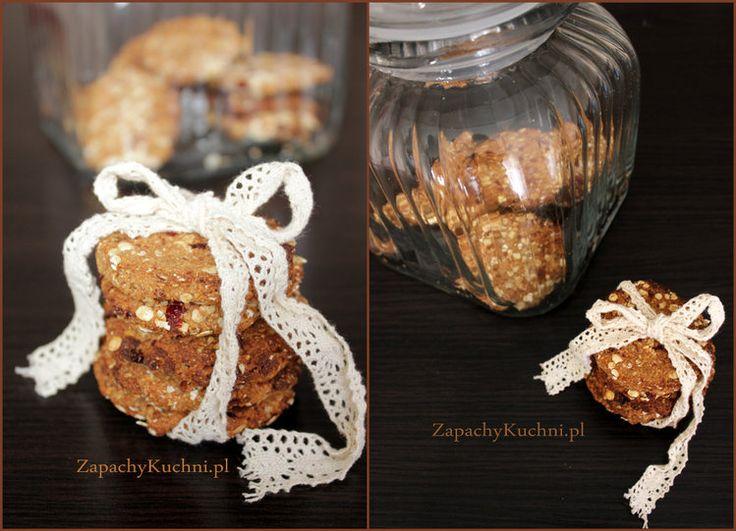 Ciasteczka owsiane z żurawiną (bez cukru, bez jajek, bez mąki)