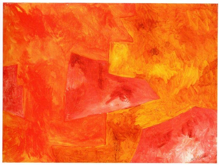 Serge Poliakoff, 7. Composition abstraite, 1960 (1964), gouache sur papier, cm…