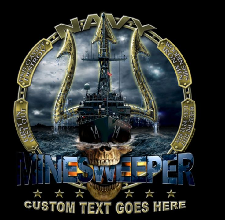 """NAVY MINESWEEPER 4"""" AUTO CAR STICKER DECAL EMBLEM MADE IN USA"""