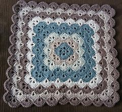 Ravelry: Beautiful Shells Square Afghan pattern by mypicot.com