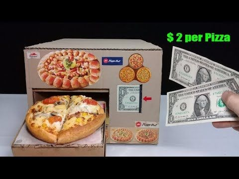 Amazing $ 2 per Pizza - How to make Pizza Vending Machine for 2 sheets of $ 1 - YouTube