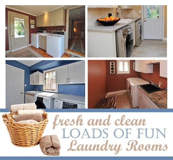 Fresh & Clean, Loads of Fun Laundry Rooms!