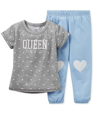 Carter's Toddler Girls' 2-Piece Heart Pajamas - Kids Toddler Girls (2T-5T) - Macy's