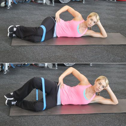 The Clamshell: Work your glutes and hamstrings for a healthy back and stable knees.