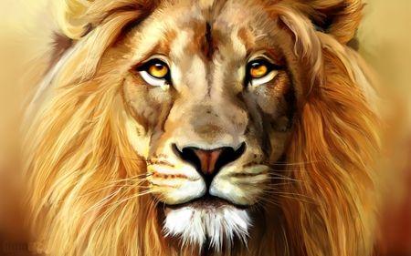 Beautiful Lion Painting