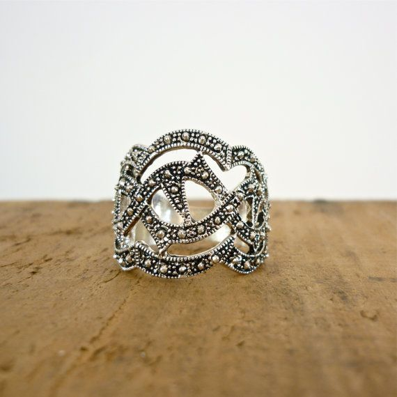 121 best images about marcasite rings on