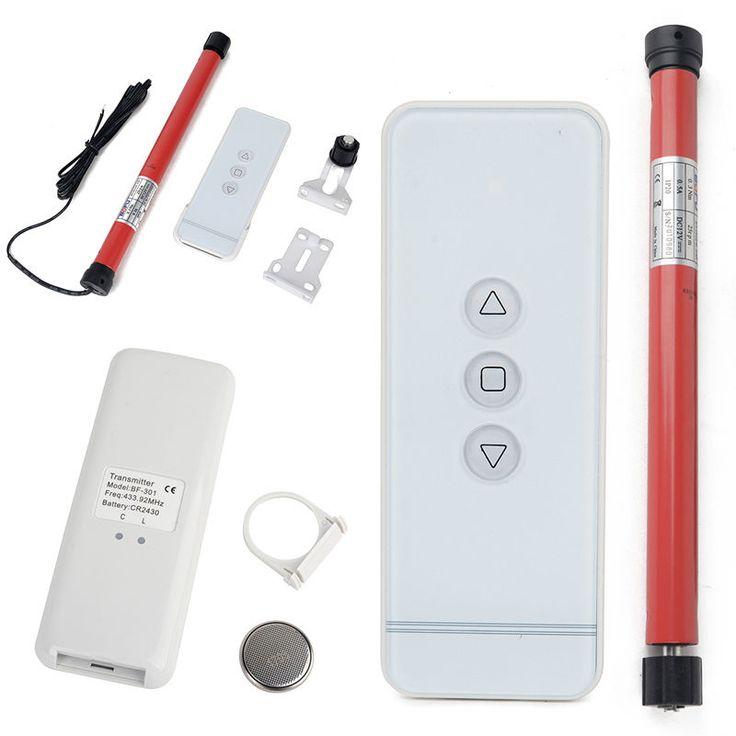 DIY 12V Roller Shade Motor Electric Blind Tubular Motor Remote Control Set 0.5A in Home, Furniture & DIY, Curtains & Blinds, Blinds   eBay!