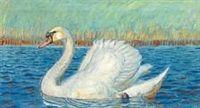 A swan by Johannes Larsen