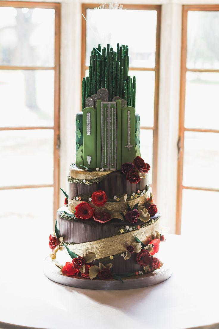 Emerald city celebration city cake emerald city party