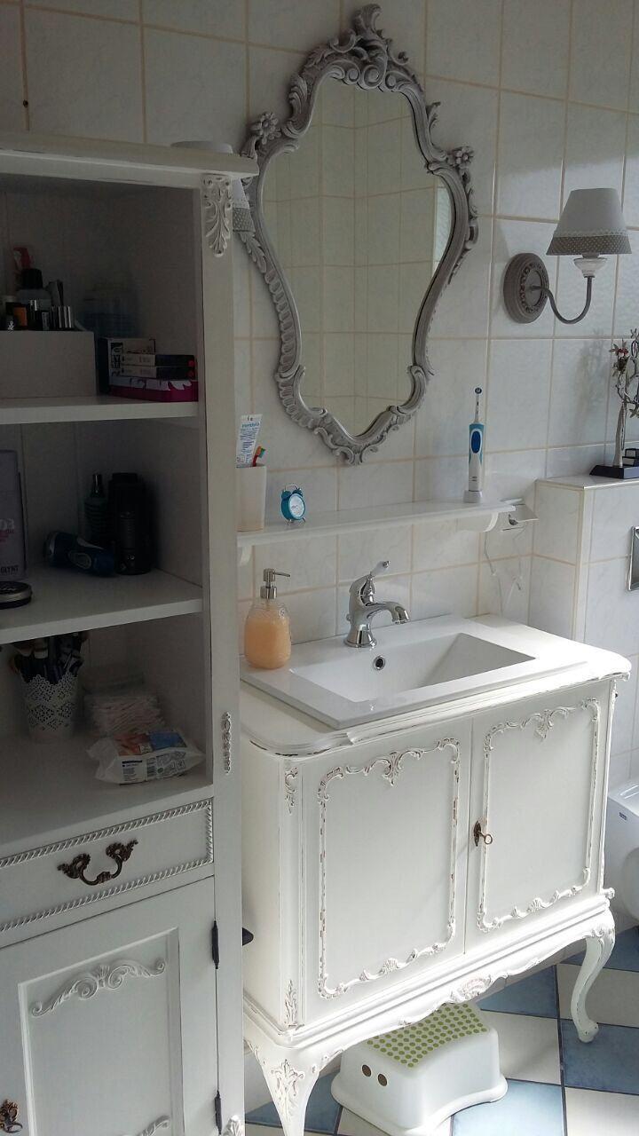 Badmöbel Blog Vorher Nachher Uvm Land Liebe Badmöbel Landhaus Shabby Chic Badezimmer Badezimmerideen Badezimmer Innenausstattung