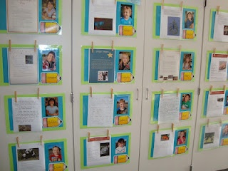 """cute way to display classroom work... make paper in shape of clouds and call """"Proud Clouds"""" have students hang work they're especially proud of"""