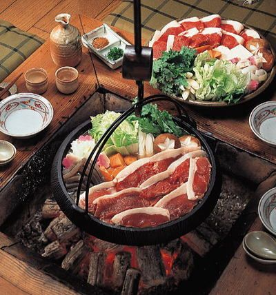 Japanese Food / ぼたん鍋(Wild Boar Hot Pot)