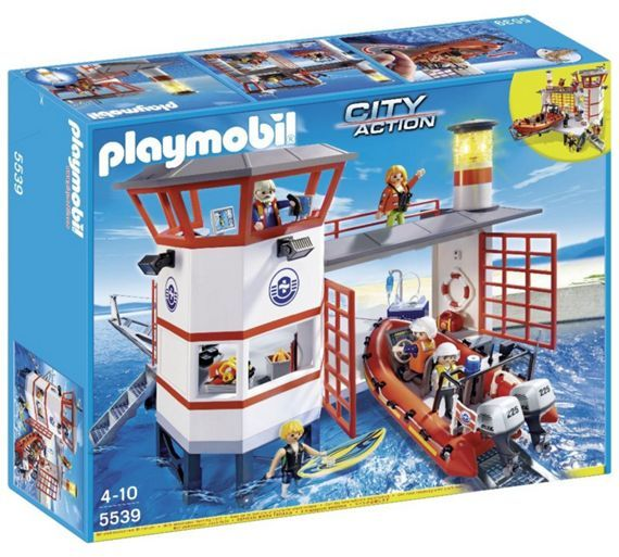 Buy Playmobil 5539 Coast Guard Station with Lighthouse at Argos.co.uk, visit Argos.co.uk to shop online for Action figures and playsets, Action figures and toys, Toys