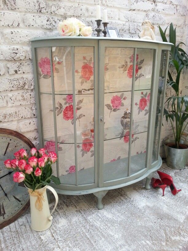 Glass Cabinet My Little Chic House In 2019 Upcycled