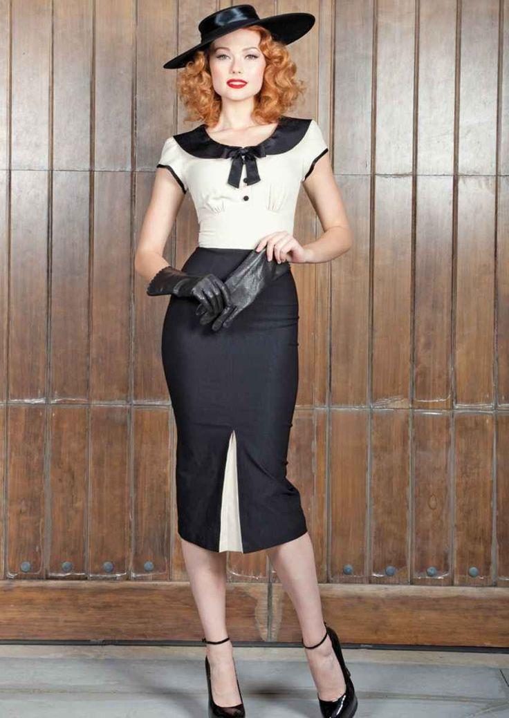 30er retro olivia 2 tone kleid kleider girls vintage retro dresses pinterest olivia. Black Bedroom Furniture Sets. Home Design Ideas