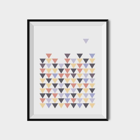 Geometric printable art Triangles wall art by 2eggsProject on Etsy