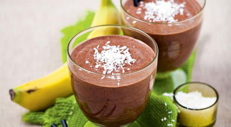 Шоколадный смузи с бананом и кокосовым молоком