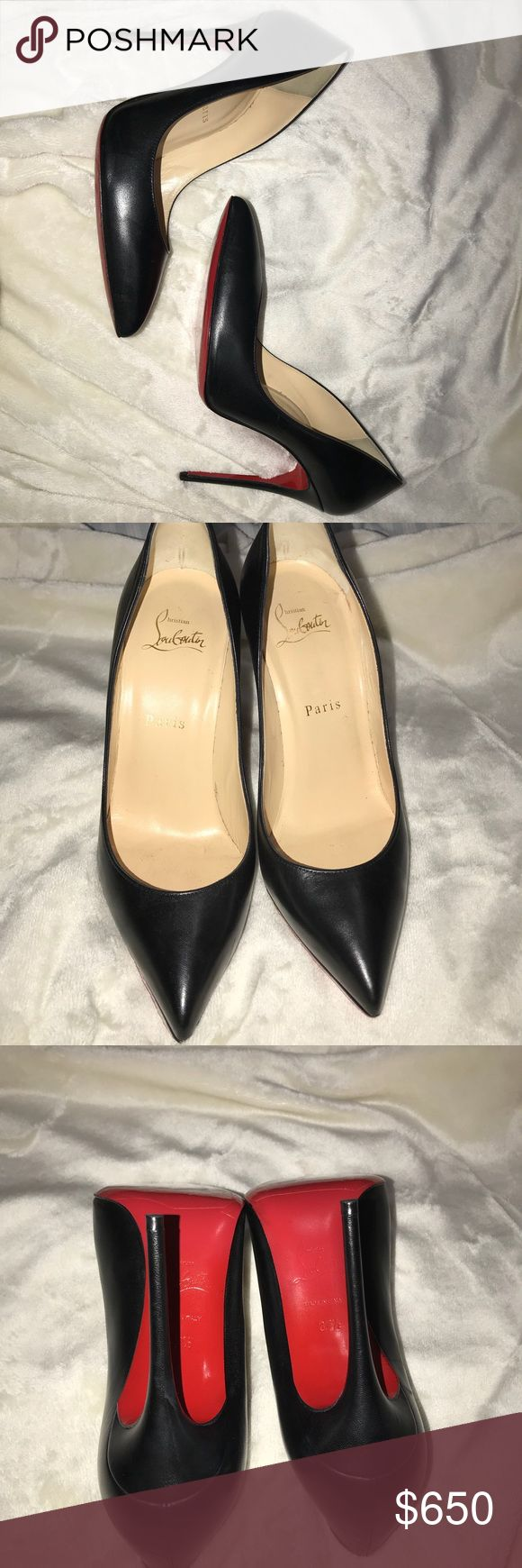 Pigalle Follies Black Worn twice. Heels are repaired and with sole protector. They are basically brand new. Christian Louboutin Shoes Heels