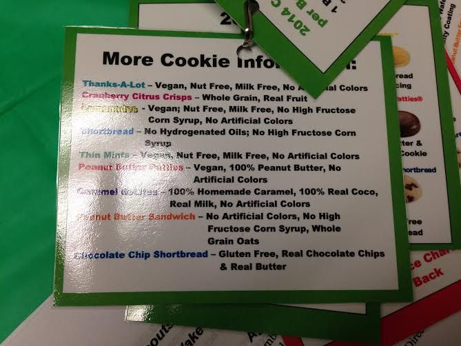 girl scout cookie information cookie pinterest