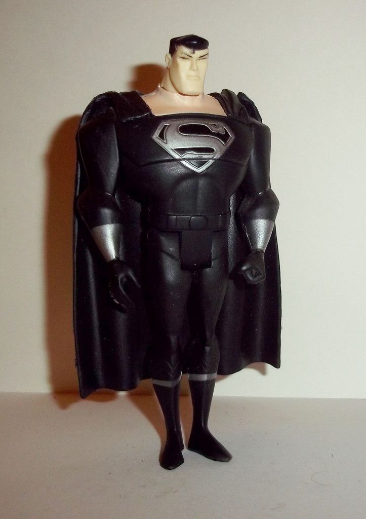 justice league unlimited SUPERMAN black suit silver emblem prime dc universe mattel dc universe animated action figure toy for sale to buy jlu