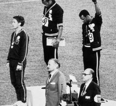 M-10-320f - Black Power salute at Olympics