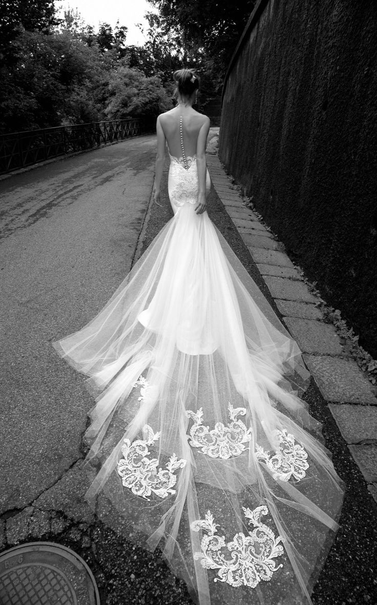 Illusion Back Mermaid Tulle Lace wedding dress,ALESSANDRARINAUDO TEODATA ARAB16632 2016 wedding dress