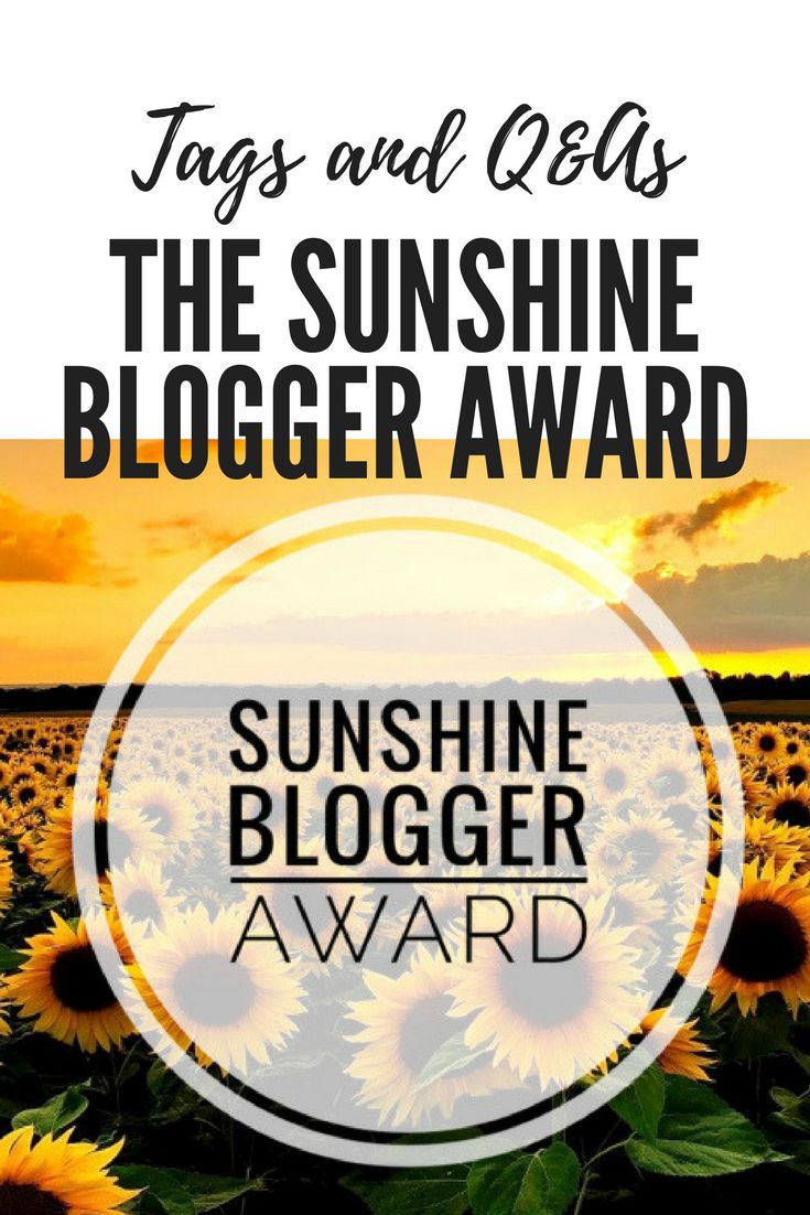 Tags and Q&As| The Sunshine Blogger Award