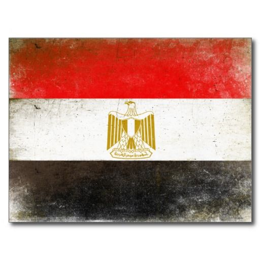 Postcard with Cool Flag from Egypt ...