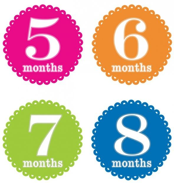 Month By Month Baby Growth Stickers Free Printable