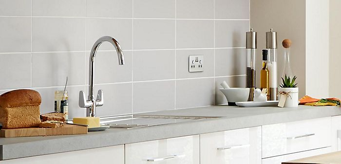 Cooke & Lewis Amsel Chrome Finish Kitchen Twin Lever Tap | Departments | DIY at B&Q