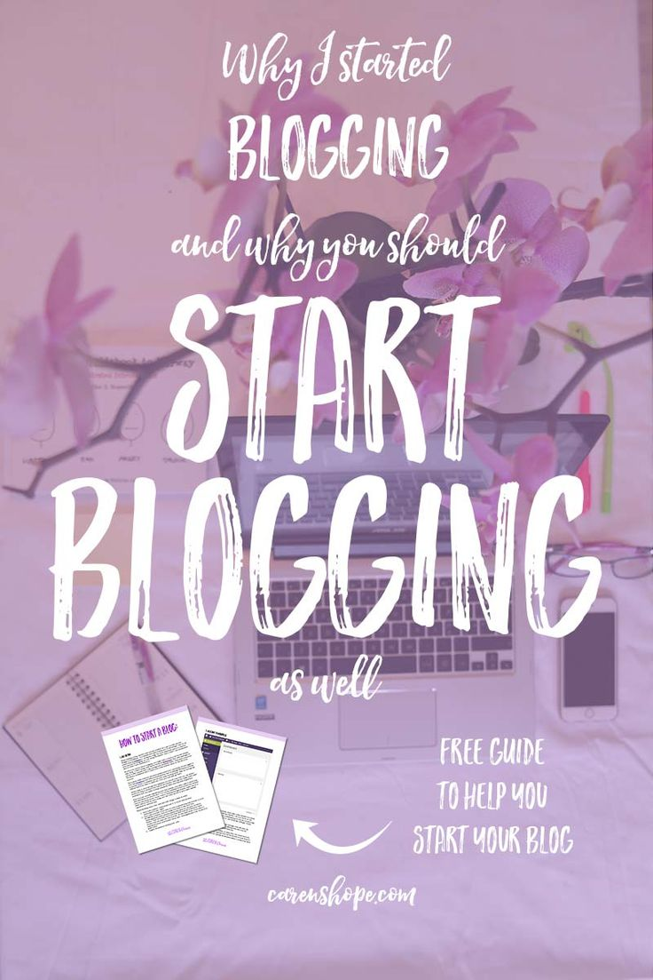 I believe that everyone should start blogging. Are you curious whether you should start blogging and why some people blog? Sharing my blogging story in this blog post with a free guide to help you kick off your blogging journey. | carenshope.com