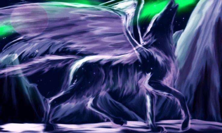 Картинки аниме волков с крыльями - на Времена года