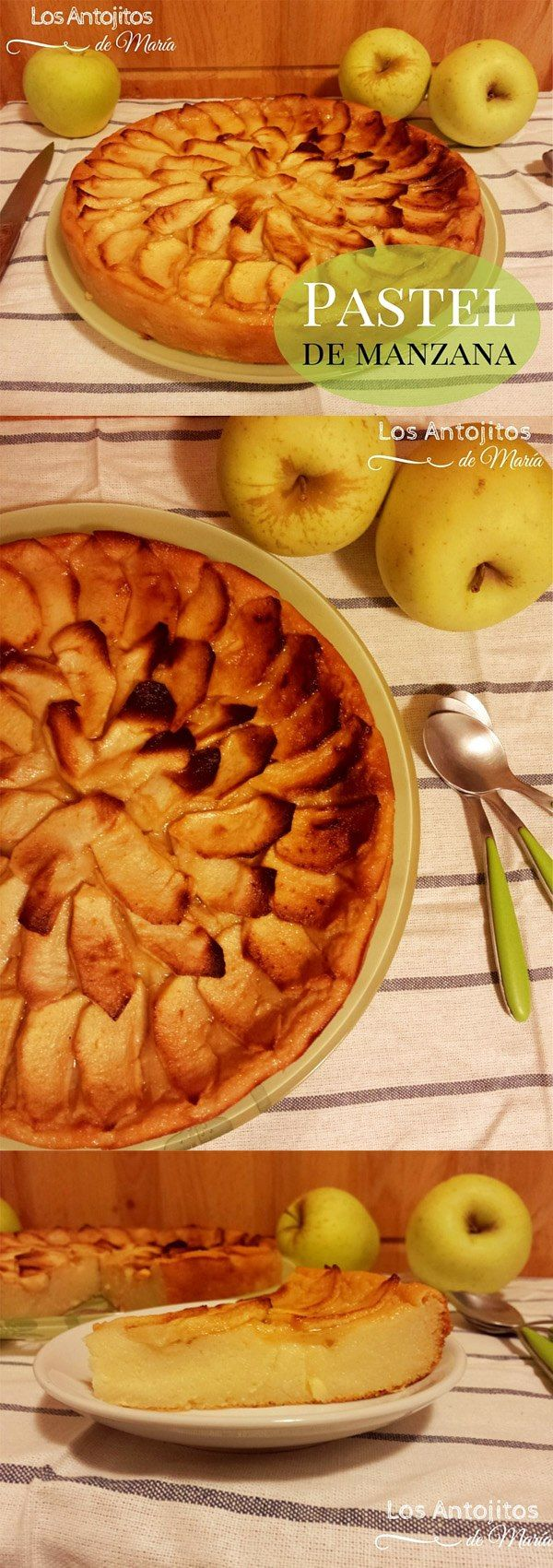 Pastel fácil de manzana / http://losantojitosdemaria.blogspot.com.es/