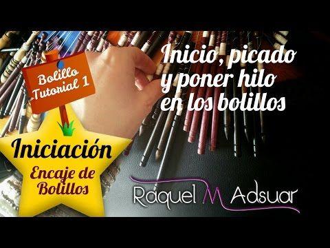 Iniciación Encaje de Bolillos nº 1. INICIO, PATRON Y ENROLLAR BOLILLOS. Bolillotutoriales de Raquel - YouTube
