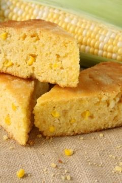 Cornbread - This makes a deliciously rich, moist cornbread that freezes well. Eat it with our simple Black Bean Chili, or use it for cornbread stuffing during the holidays.