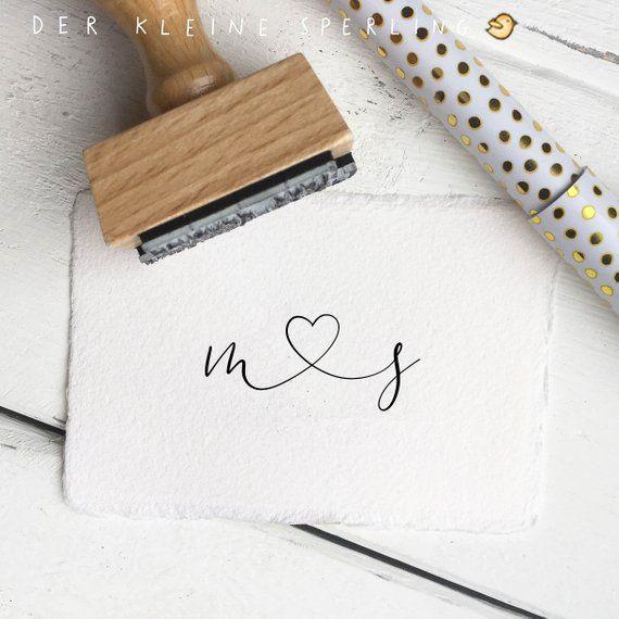 Stamp wedding initials heart, wedding stamp, save the date, invitation wedding