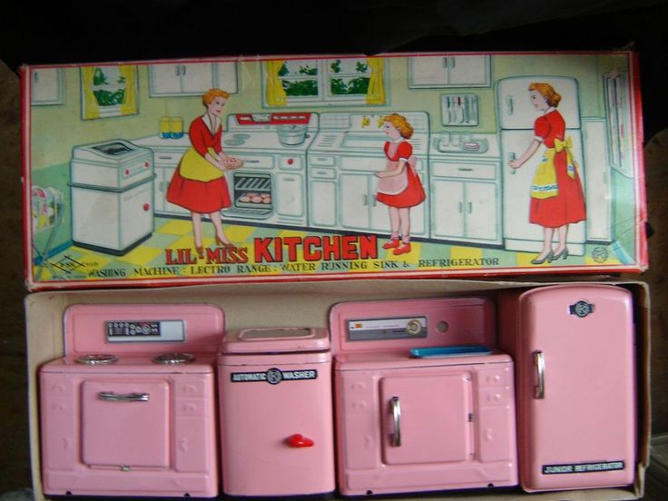 Little Miss Kitchen - Stove,  Washer, Sink & Refrigerator #